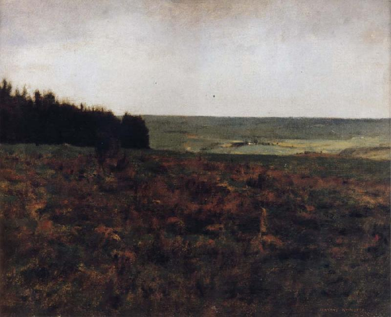 Fernand Khnopff Heaths in the Ardennes oil painting picture