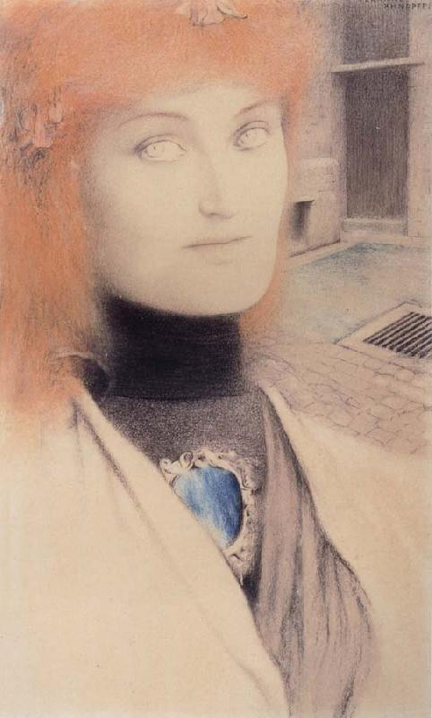 Fernand Khnopff Who Shall Deliver Me oil painting picture