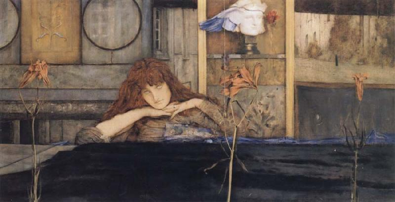 Fernand Khnopff I Lock My Door Upon Myself oil painting picture