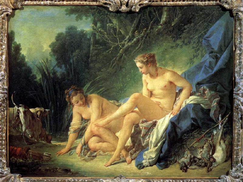 Francois Boucher Diana After Bathing oil painting picture