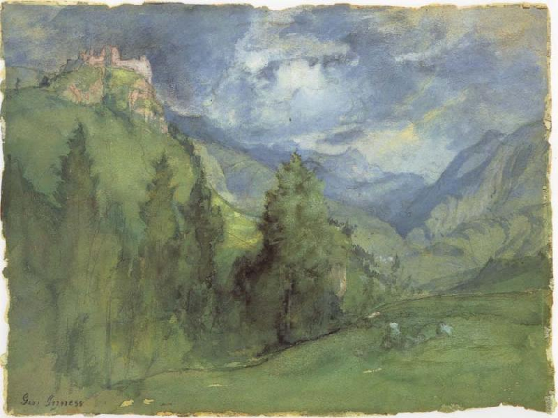 George Inness Castle in Mountains oil painting picture