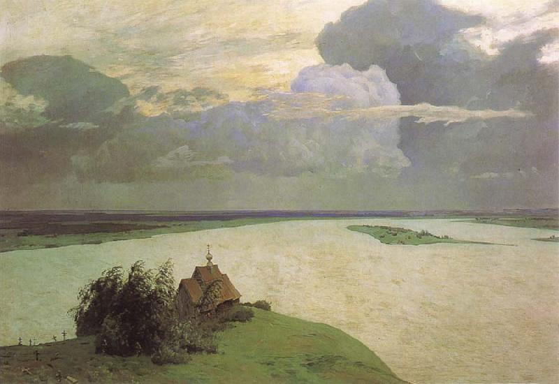 Isaac Ilich Levitan Above Eternel Peace oil painting picture