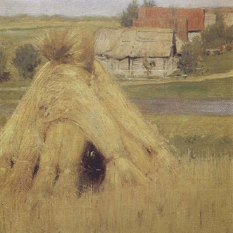 Isaac Levitan Mill and Village near a Stream oil painting picture