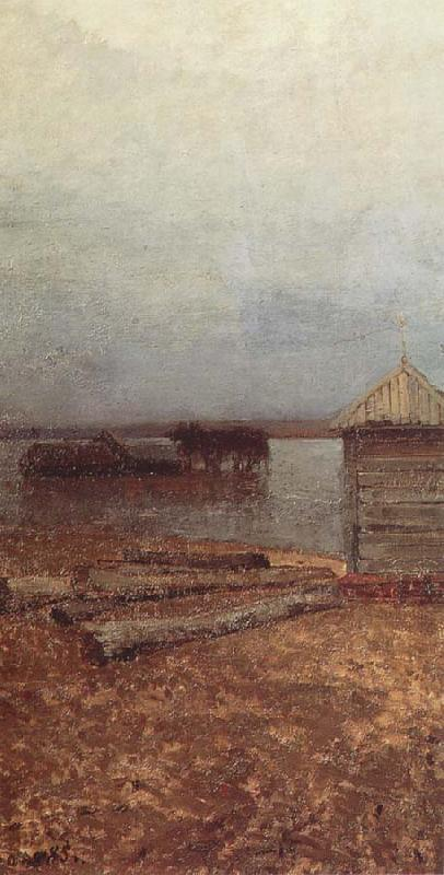 Isaac Levitan Flood Waters oil painting picture