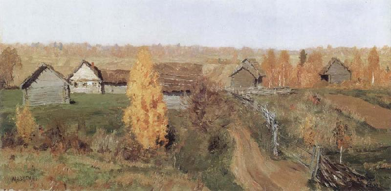 Isaac Levitan Golden Autumn,in the Village oil painting picture