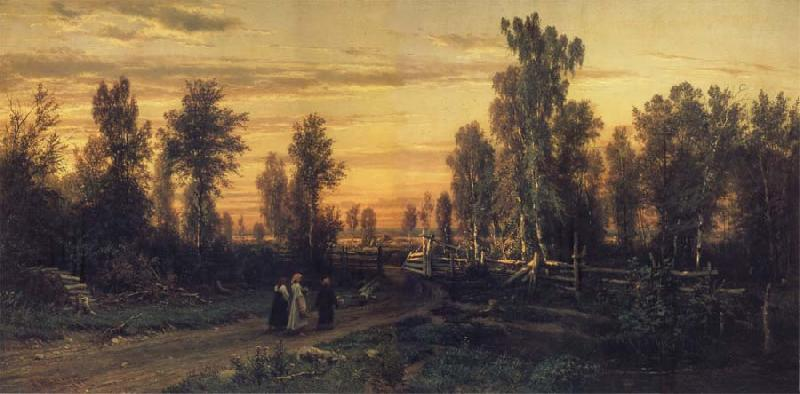 Ivan Shishkin Eventide oil painting picture
