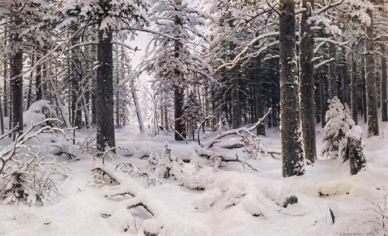 Ivan Shishkin Winter oil painting picture