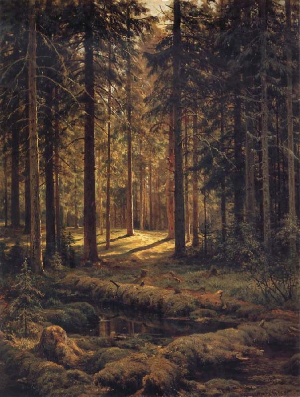 Ivan Shishkin Conifer-Sunshine oil painting picture