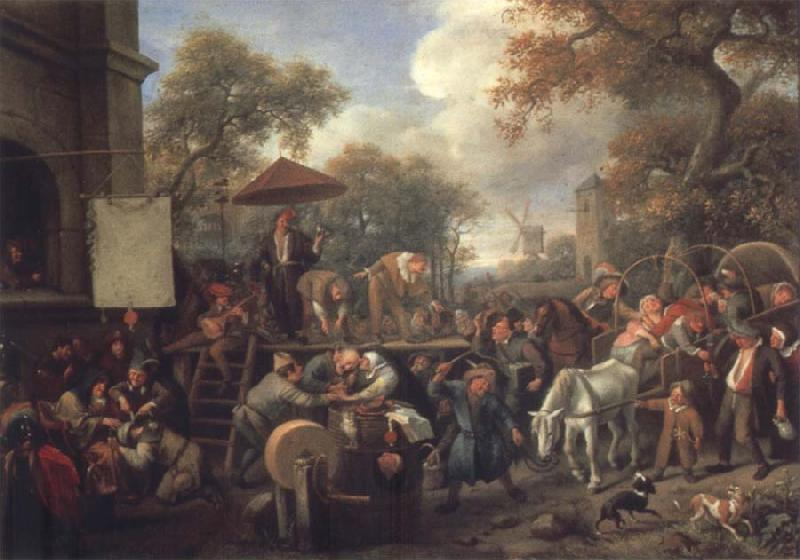 Jan Steen The Quack oil painting picture