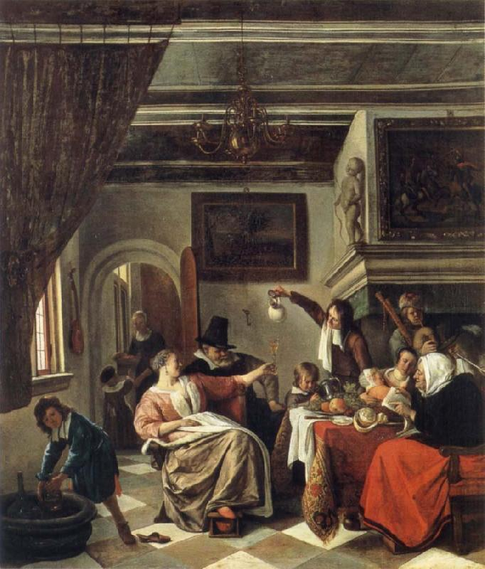 Jan Steen The Way we hear it is the way we sing it oil painting picture