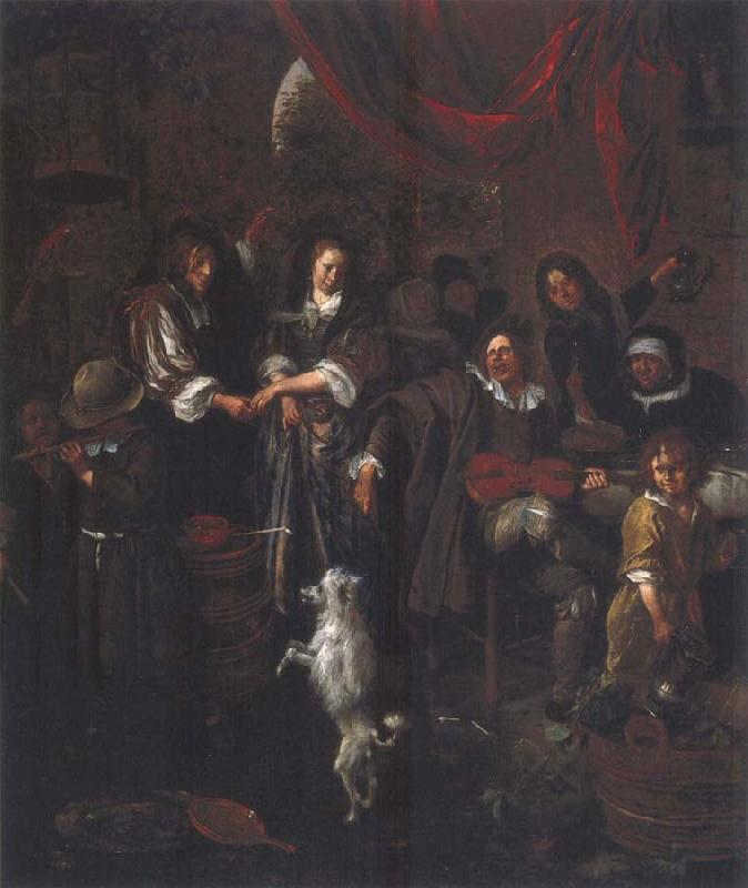 Jan Steen The Dancing dog oil painting picture