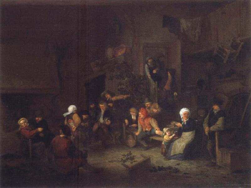 Jan Steen Merry Company in an inn. oil painting picture
