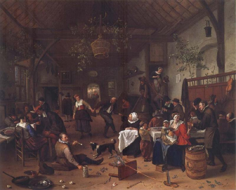 Jan Steen Merry Company in an inn oil painting picture