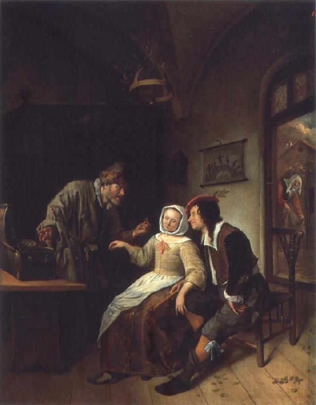 Jan Steen Two choices oil painting picture