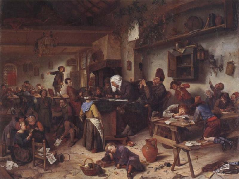 Jan Steen A Shool for boys and girls oil painting picture