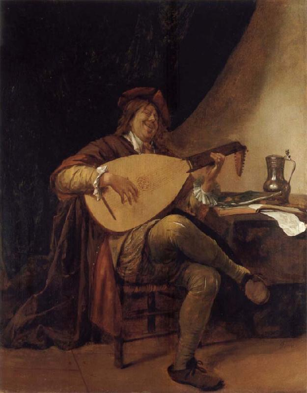 Jan Steen Self-Portrait as a lutenist oil painting picture