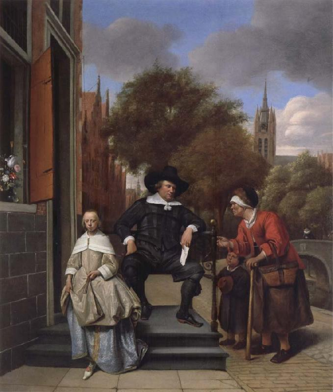Jan Steen A Delf burgher and his daughter oil painting picture