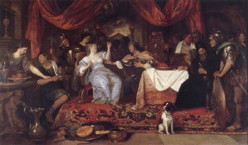 Jan Steen Authory and Cleopatra oil painting picture