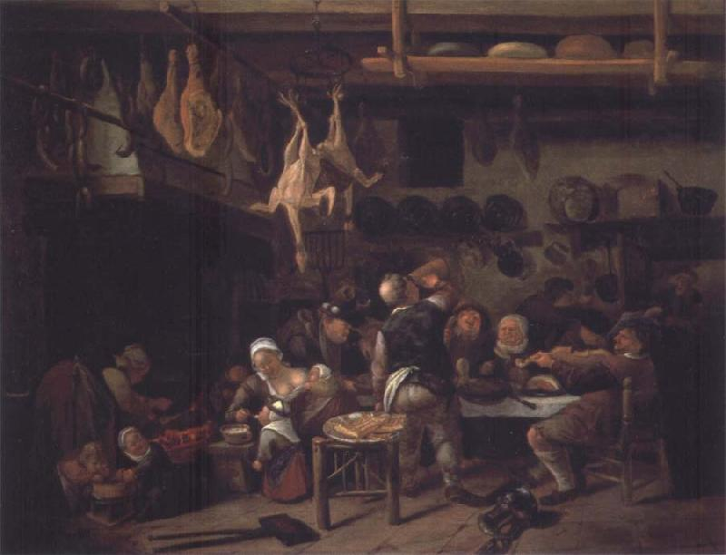 Jan Steen The Fat Kitchen oil painting picture