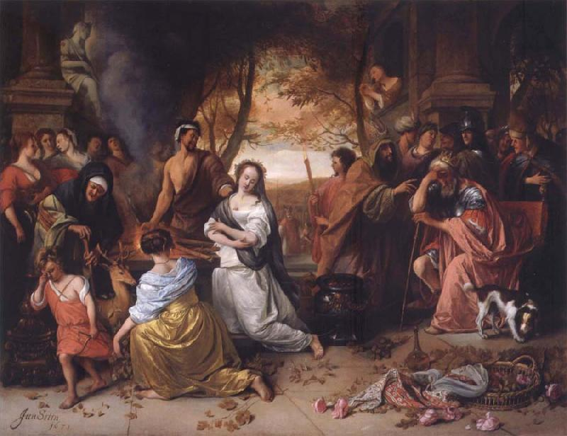 Jan Steen The Sacrifice oil painting picture