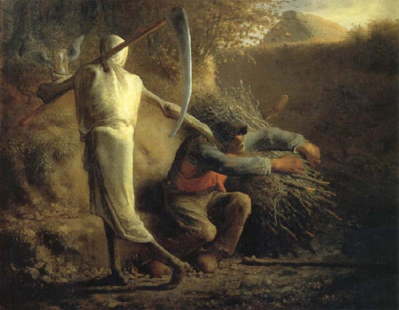 Jean Francois Millet Death and the woodcutter oil painting picture