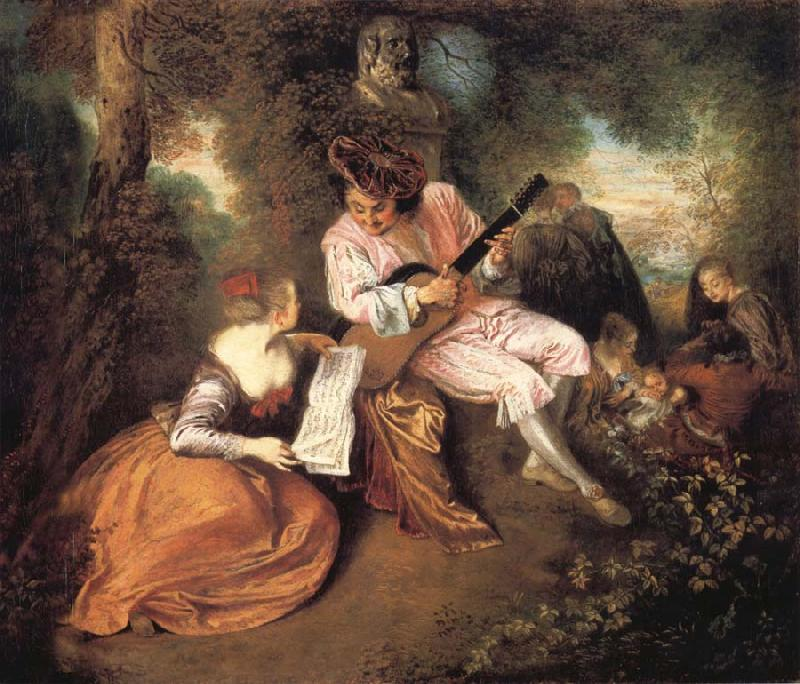 Jean-Antoine Watteau The scale of love oil painting picture