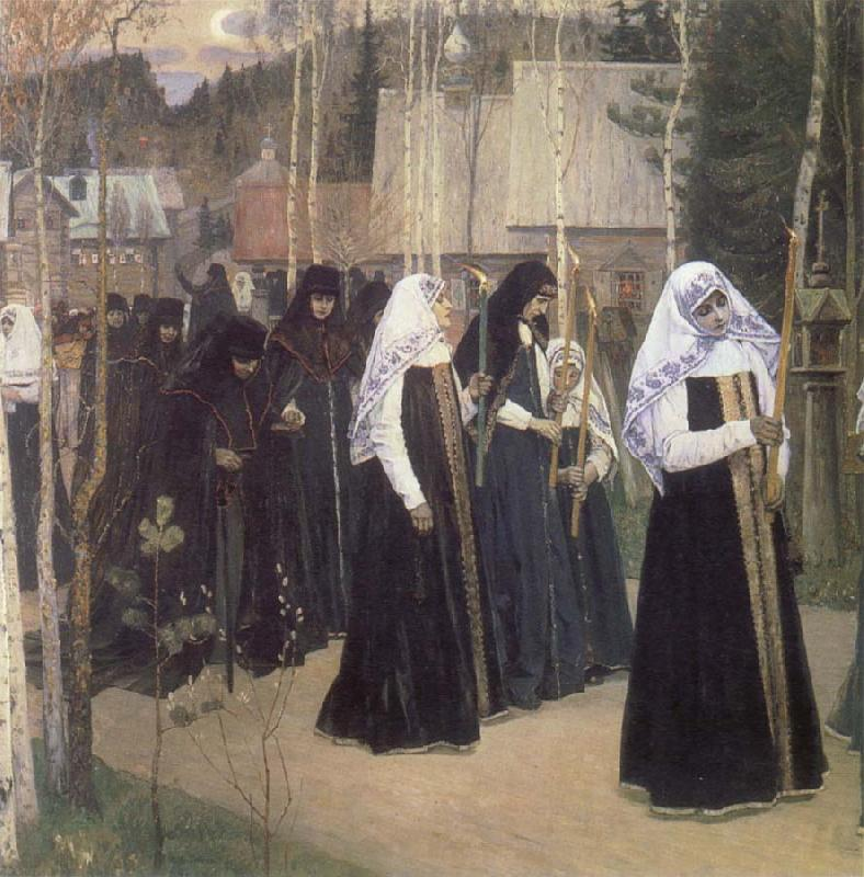 Mikhail Nesterov The Taking of the Veil oil painting picture