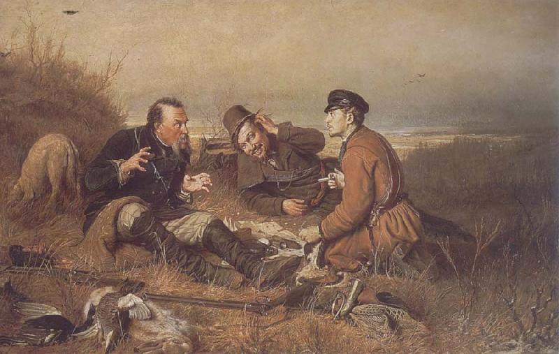 Perov, Vasily Hunters at Rest oil painting picture