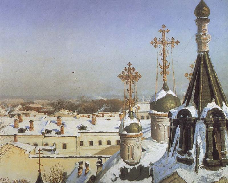 Sergei Svetoslavsky View from the Window of the Moscwo College of Painting oil painting picture