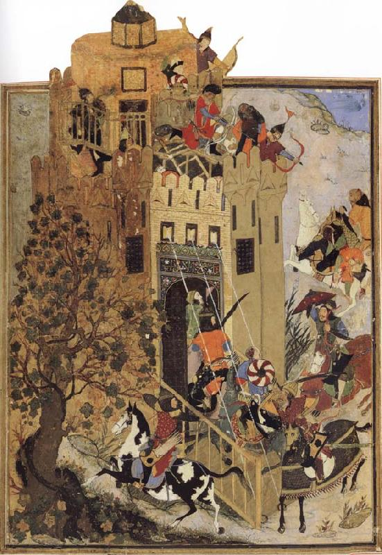 Sharafuddin Yazdi Attack against the fort of Urganj oil painting image