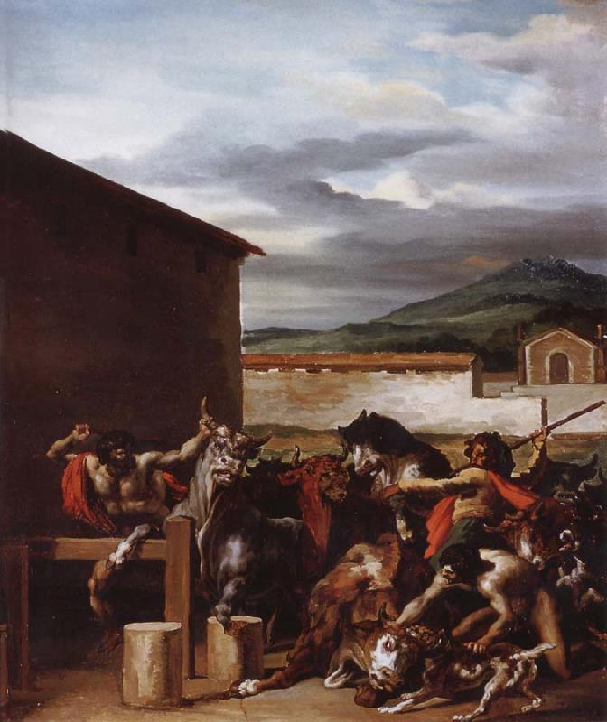 Theodore Gericault The Cattle market oil painting picture