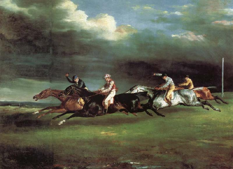 Theodore Gericault The Derby at epson oil painting picture