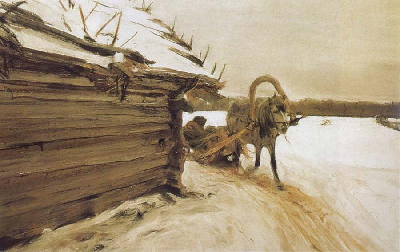 Valentin Serov In Winter oil painting picture