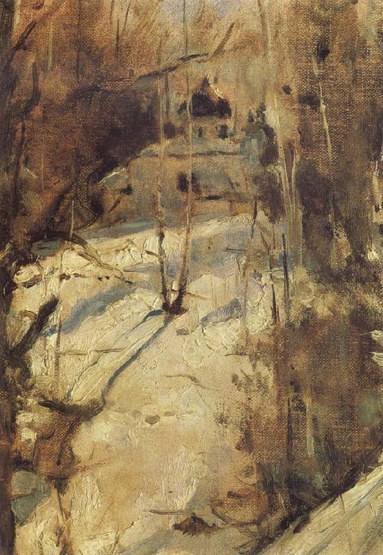 Valentin Serov Winter in Abramtsevo,The Church,Study oil painting picture