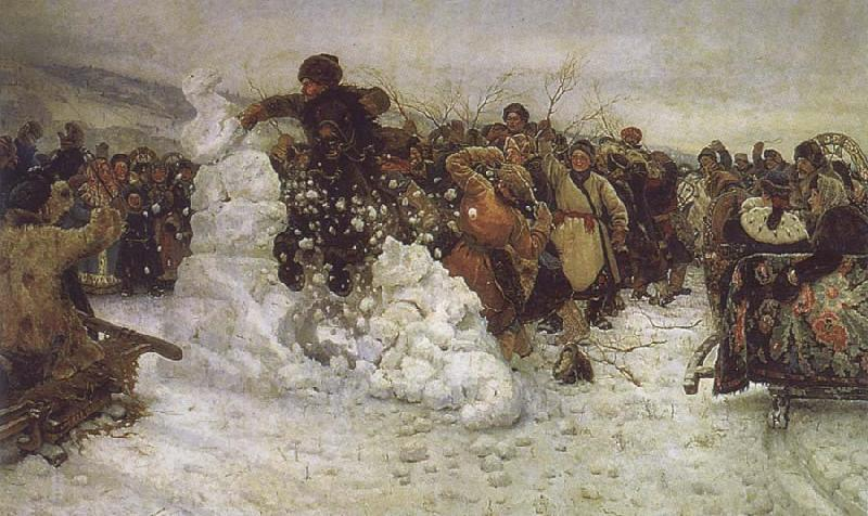 Vasily Surikov The Taking of the Snow oil painting picture