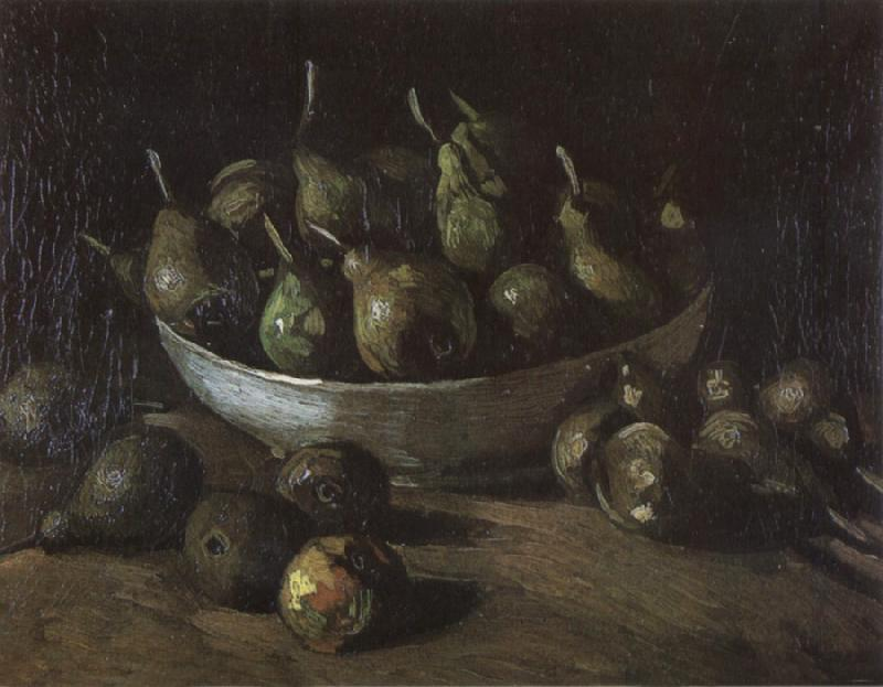 Vincent Van Gogh Still life with an Earthen Bowl and Pears (nn04) oil painting image