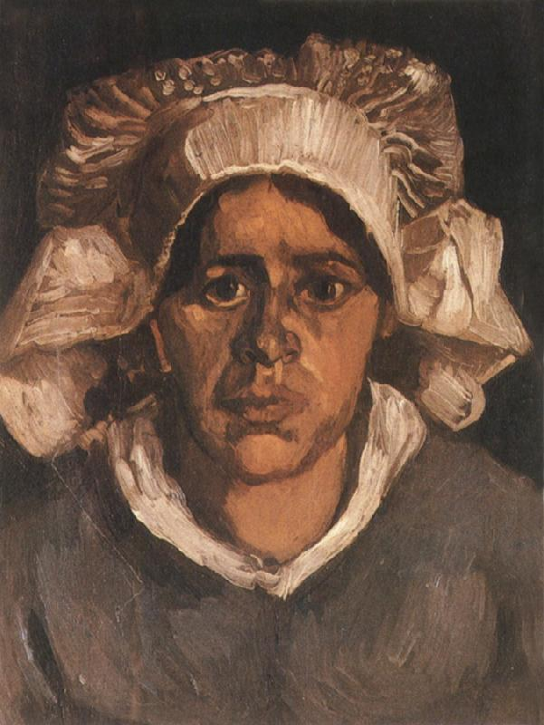 Vincent Van Gogh Head of a Peasant Woman with White Cap (nn04) oil painting image