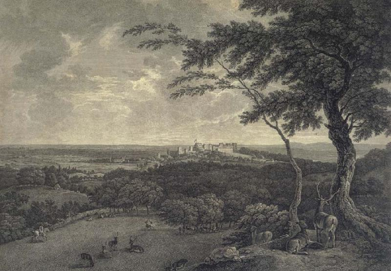 unknow artist South View of Windsor,taken from the Great Park oil painting picture