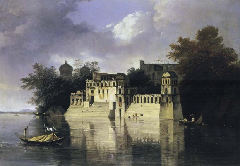 unknow artist View of the Ghats at Benares oil painting picture