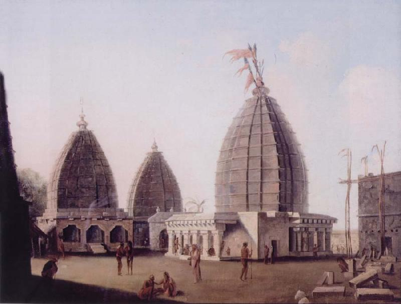 unknow artist A Group of Temples at Deogarh,Santal Parganas Bihar oil painting picture