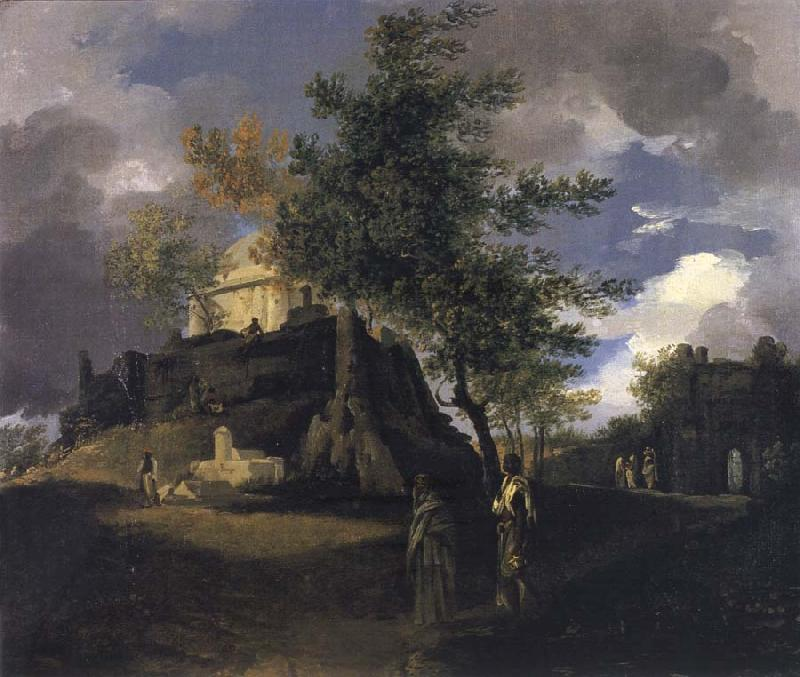 unknow artist A Tomb with Figures oil painting picture