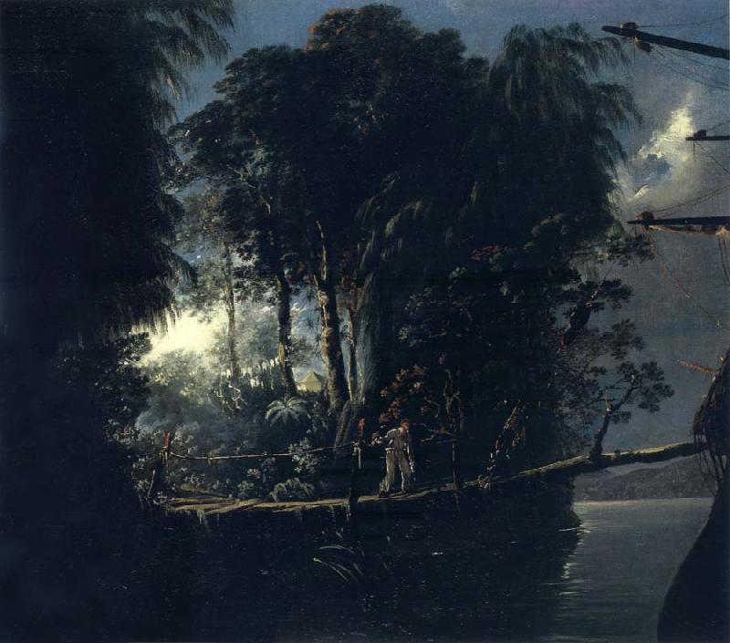 unknow artist View of Pickersgill Harbour,Dusky Bay Sound,New Zealand,April 1773 oil painting picture
