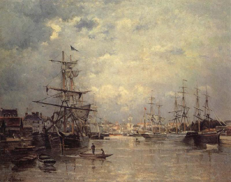 Stanislas lepine The Port of Caen oil painting image