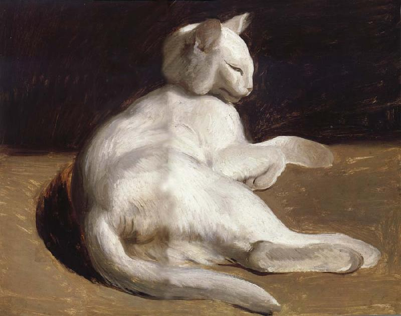 le chat blanc theodore gericault les reproductions en gros. Black Bedroom Furniture Sets. Home Design Ideas
