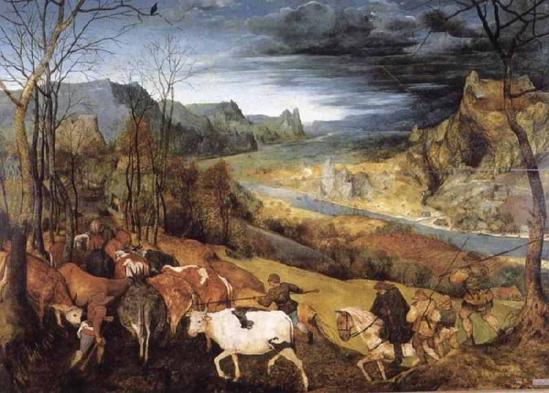 BRUEGEL, Pieter the Elder Return of the Herd oil painting image