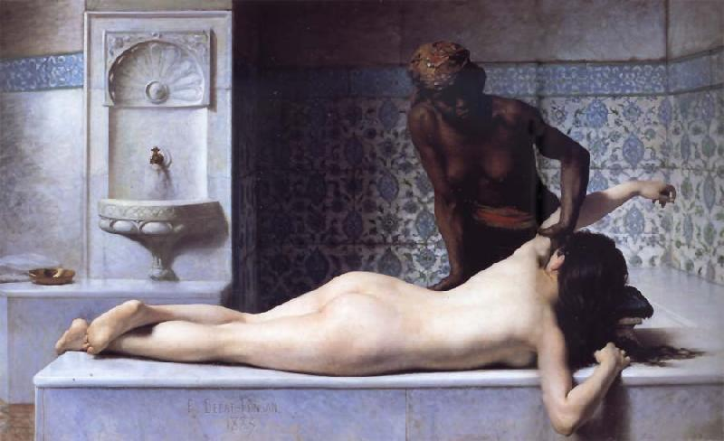 Edouard Debat Ponsan The Massage Scene from the Turkish Baths oil painting image