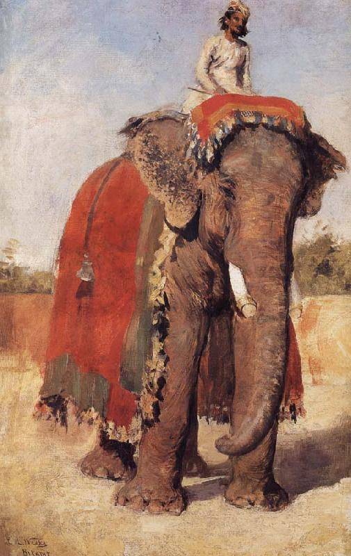 Edwin Lord Weeks A State Elephant at Bikaner Rajasthan oil painting image