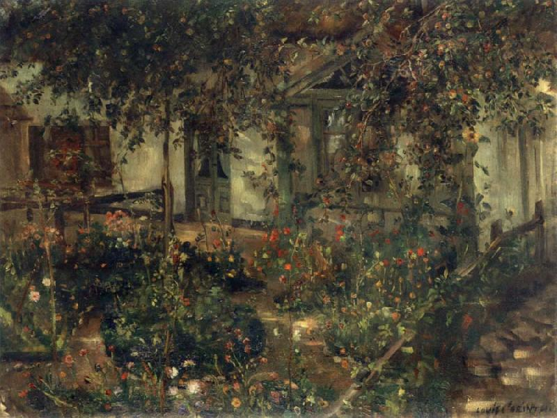 Lovis Corinth Blooming Rustic Garden oil painting image