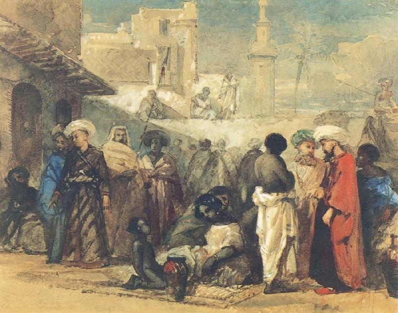 William James Muller The Cairo Slave Market oil painting image