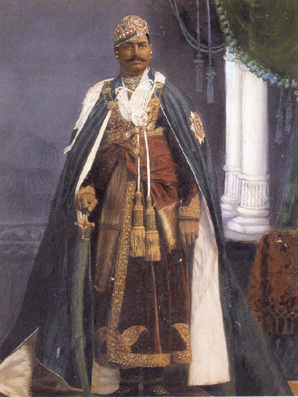 unknow artist Major His Highness Maharao Umed Singh II of Kota oil painting image